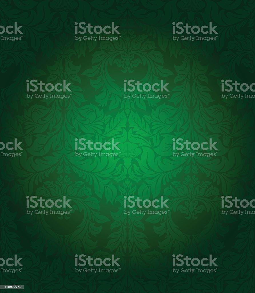 Green  vintage seamless wallpaper royalty-free stock vector art