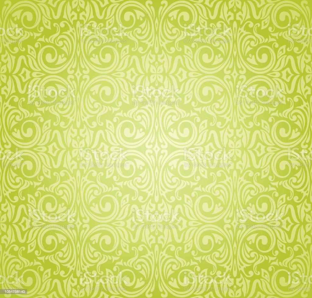 Conception Dun Papier Peint Vintage Vert Cliparts Vectoriels Et