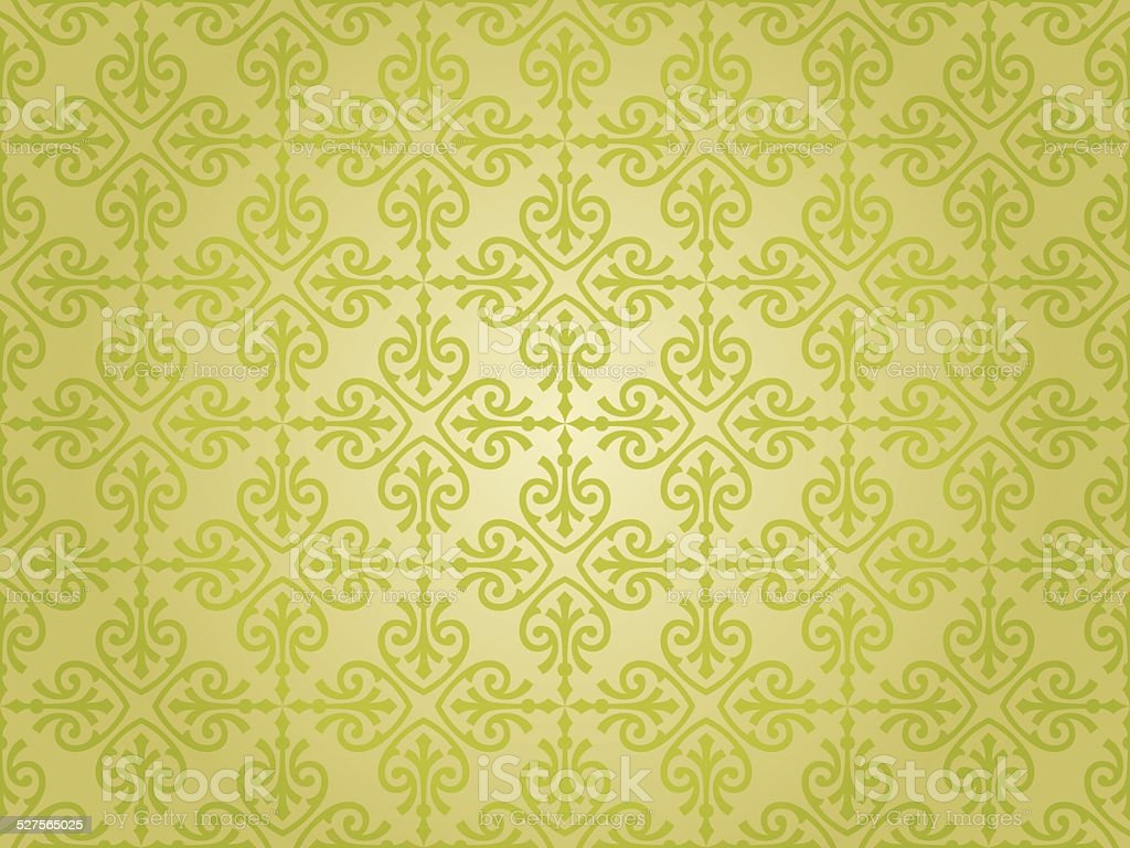 グリーンのビンテージ壁紙デザイン まぶしいのベクターアート素材や