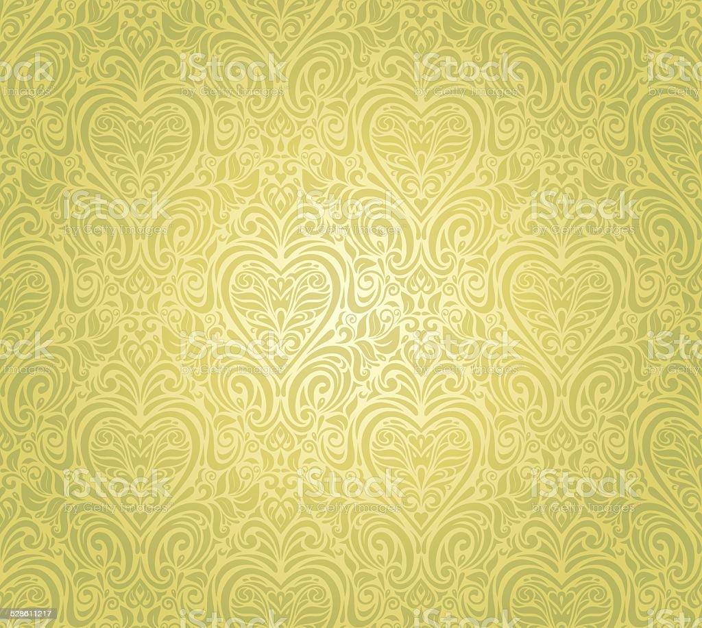 グリーンのビンテージ壁紙デザイン まぶしいのベクターアート素材や画像を多数ご用意 Istock