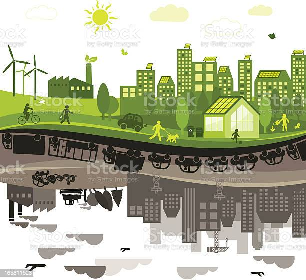 Green vs polluted city vector id165811523?b=1&k=6&m=165811523&s=612x612&h=f4hauibp gn9 vlls9 aumuk66mgjmgei ngtasvfvw=