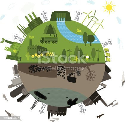 istock Green vs. polluted 166083797