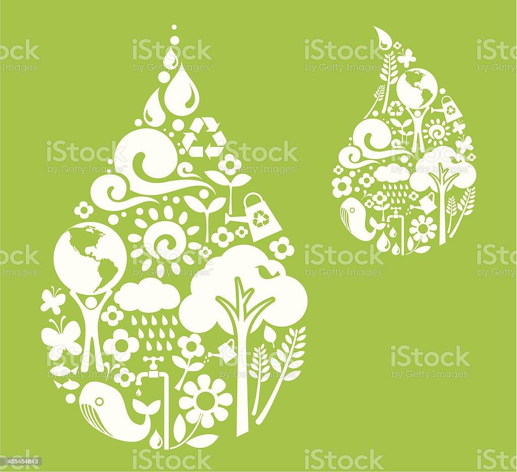 Green Water royalty-free stock vector art