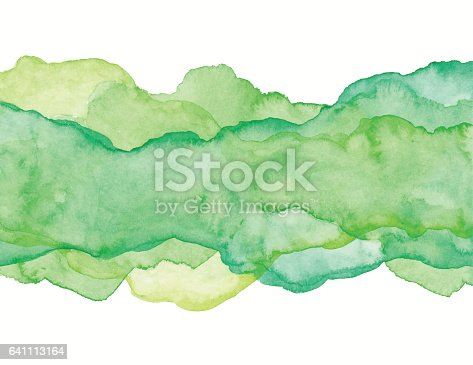 Watercolor painted green backgrounds