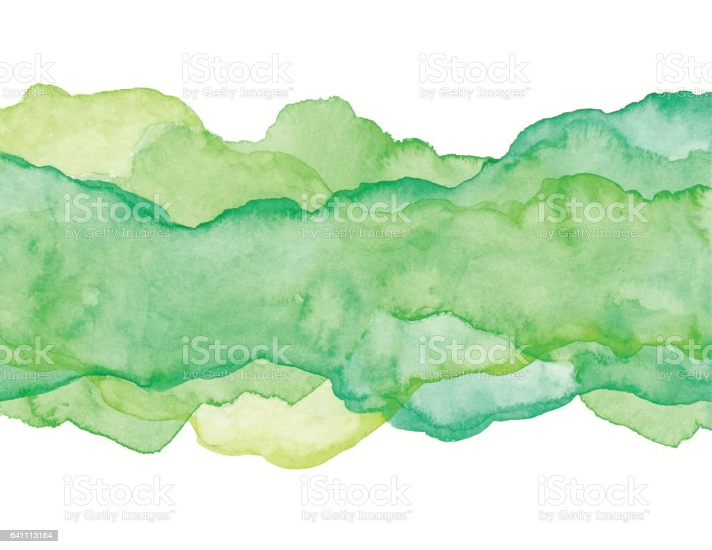 Green Watercolor Abstract vector art illustration