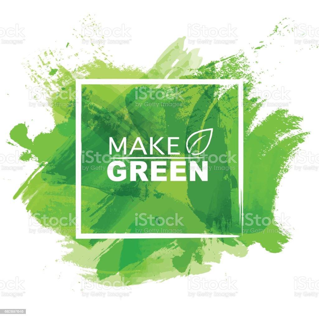 Green Aquarell Lizenzfreies green aquarell stock vektor art und mehr bilder von abstrakt