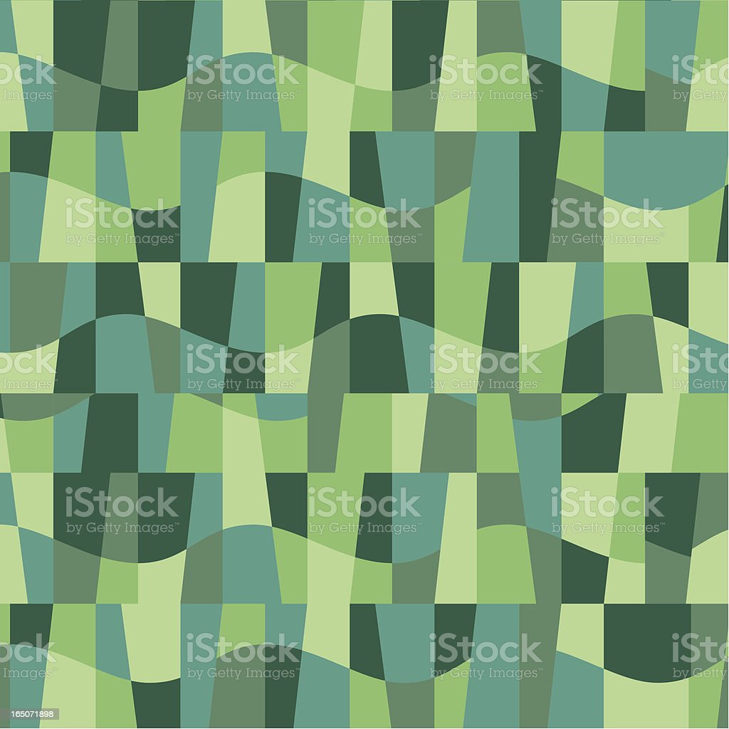 Green Wave pattern royalty-free stock vector art