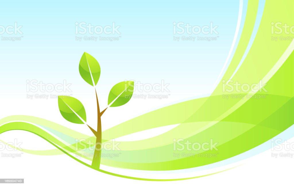 Green wave royalty-free stock vector art