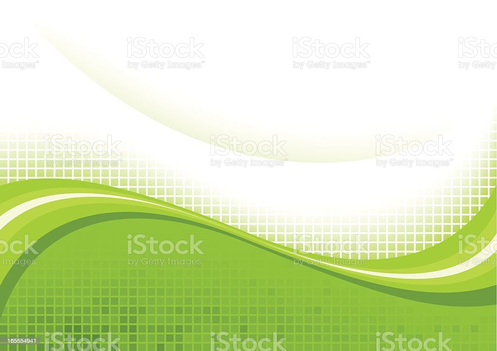 Green wave royalty-free stock vector art