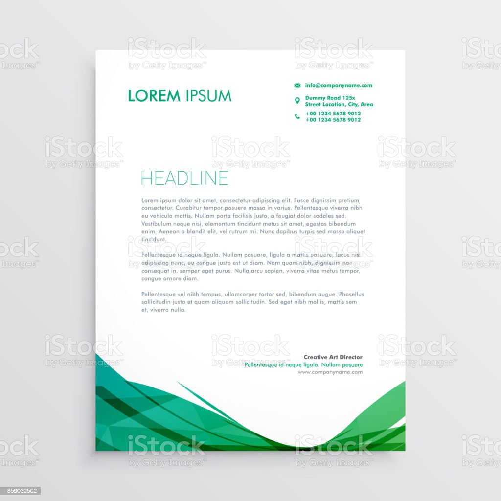 Green wavy shape letterhead vector design template stock vector art green wavy shape letterhead vector design template royalty free green wavy shape letterhead vector design spiritdancerdesigns