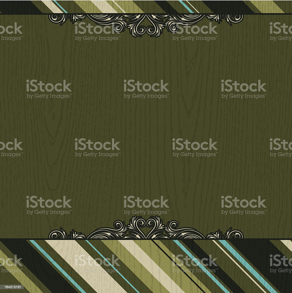 green wooden background royalty-free stock vector art