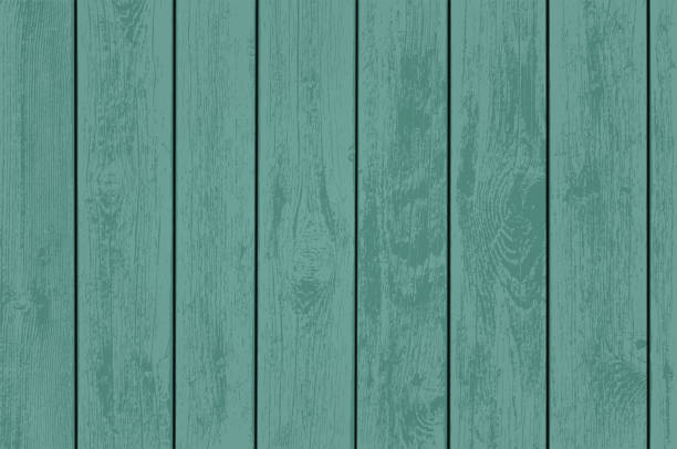 green wooden panels. - wood texture stock illustrations