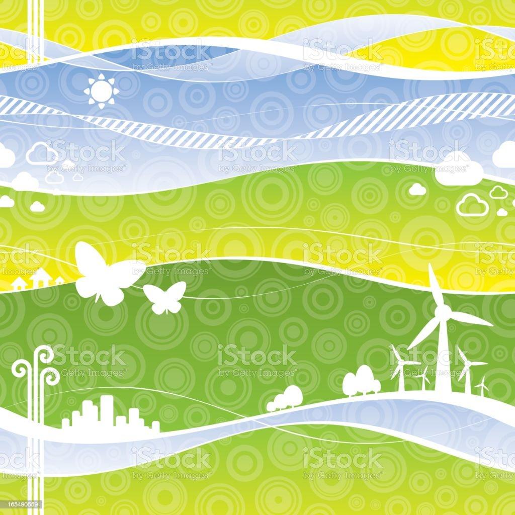 Green World Background - Seamless Tile royalty-free stock vector art