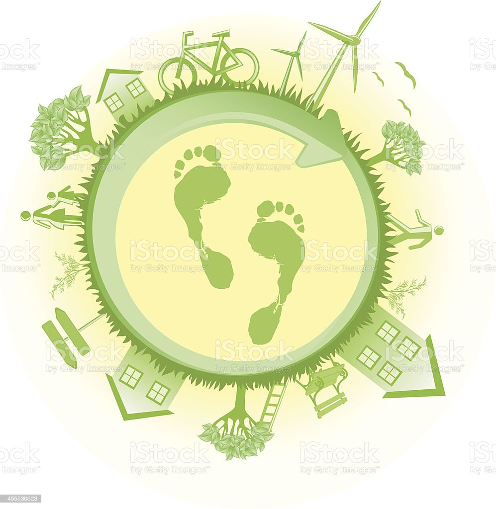 Green world logo with footprint royalty-free green world logo with footprint stock vector art & more images of adult