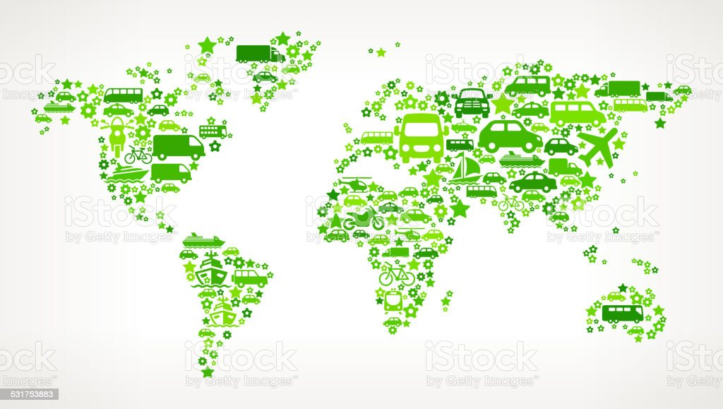 Green world map on transportation royalty free vector art pattern green world map on transportation royalty free vector art pattern royalty free green world map gumiabroncs
