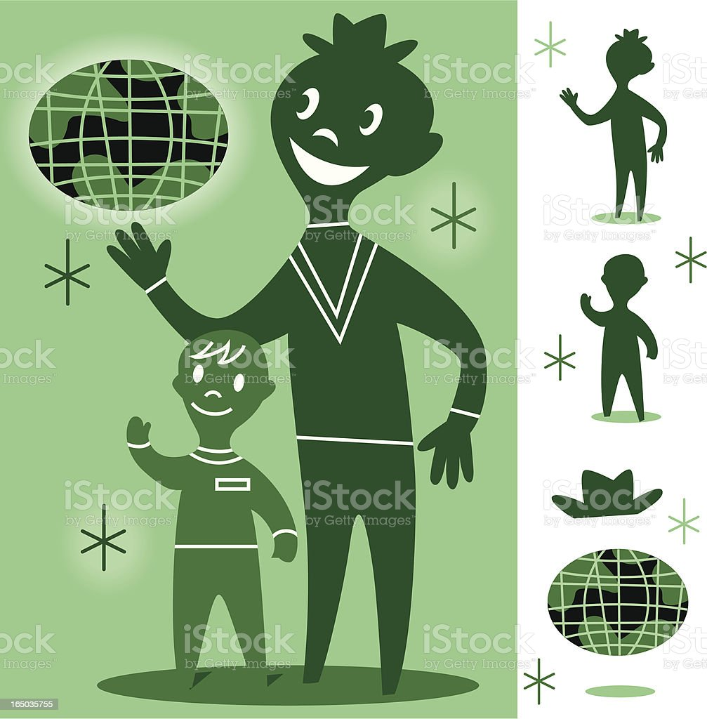 Green World royalty-free stock vector art