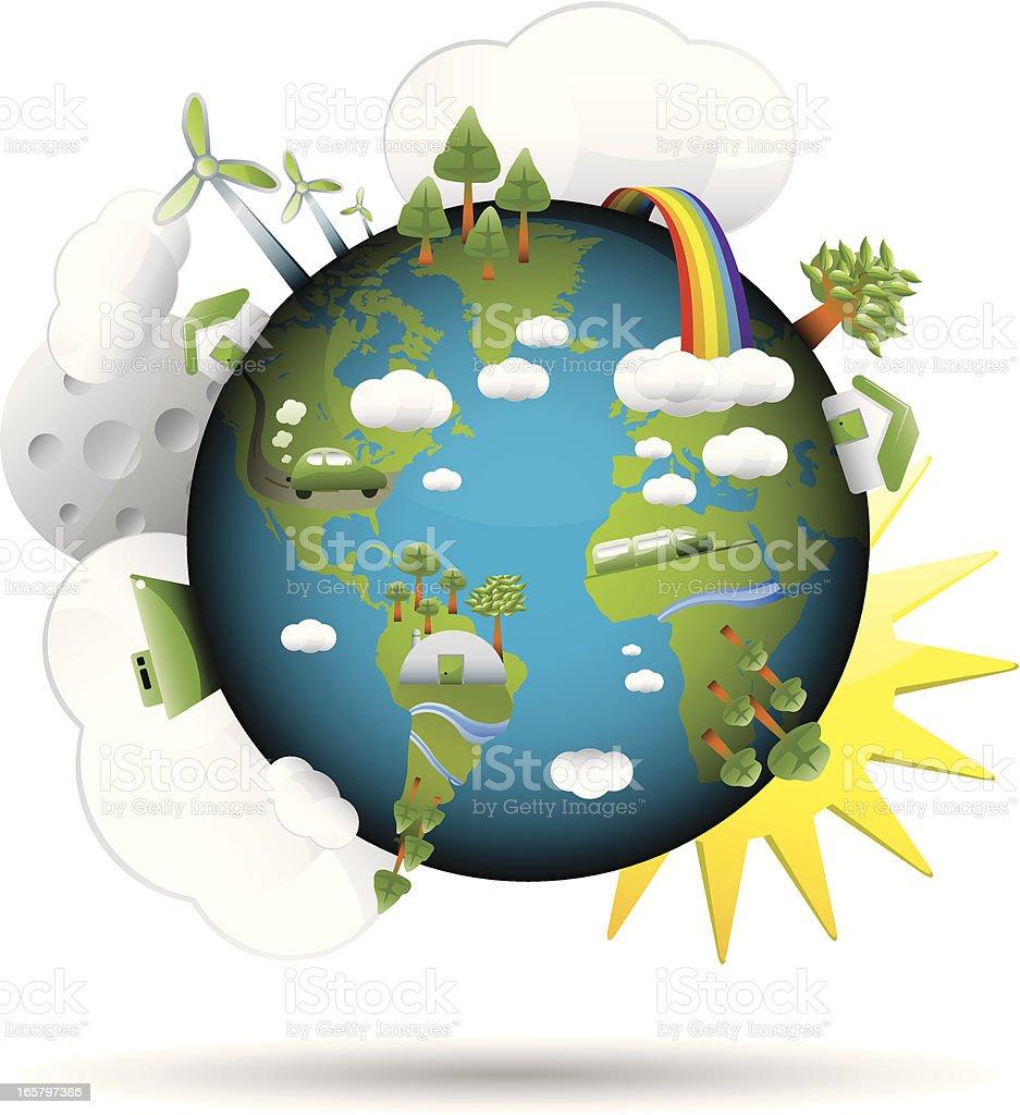 green world royalty-free stock vector art