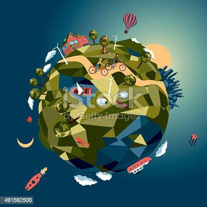 istock Green world 491562500
