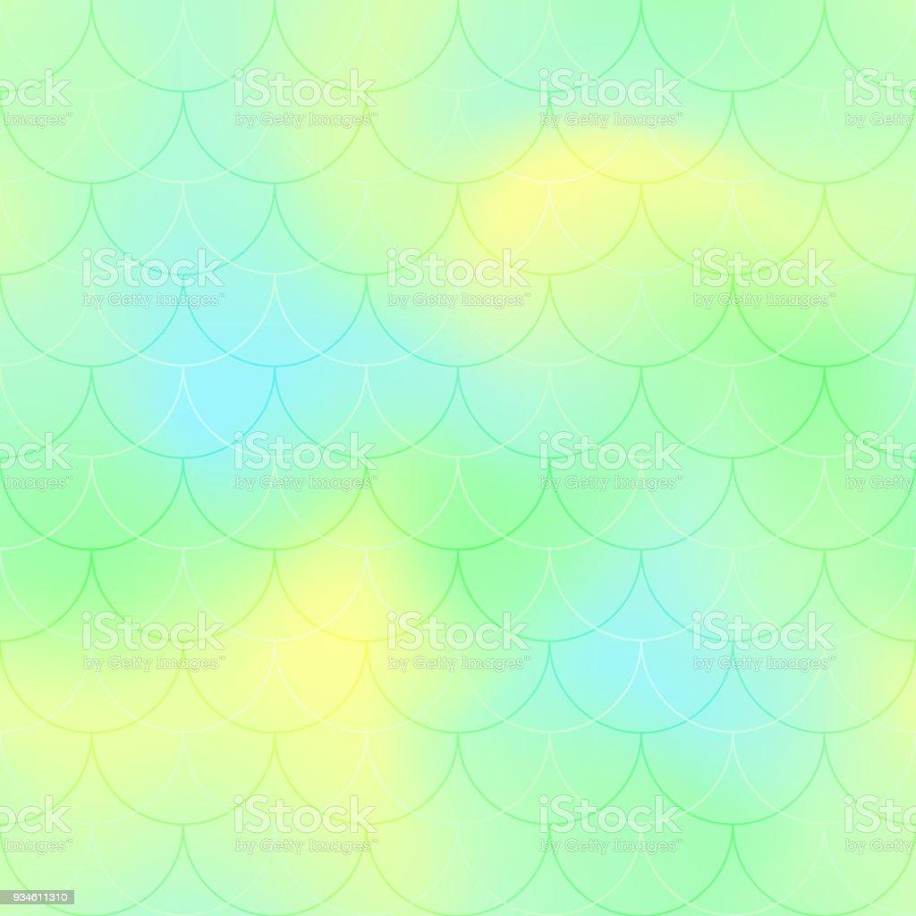 Ilustración de Fondo De Vector De Escala Sirena Amarillo Verde ...