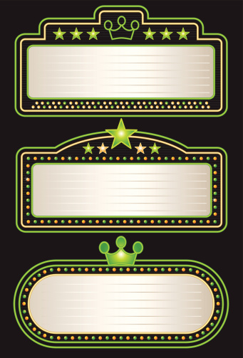 Green Yellow Neon Theater Marquees