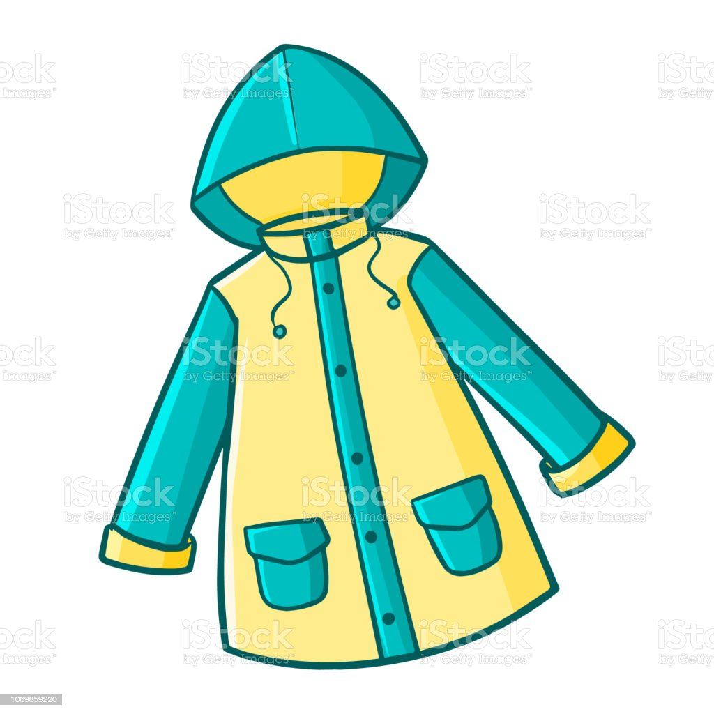 Green Yellow Raincoat Stock Illustration - Download Image Now - iStock