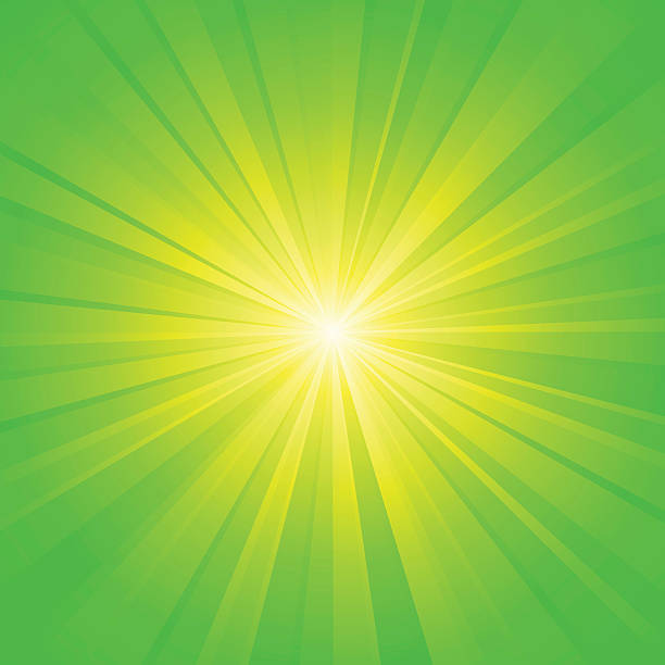 green yellow ray background vector art illustration
