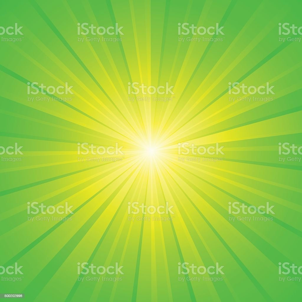 green yellow white ray background vector art illustration