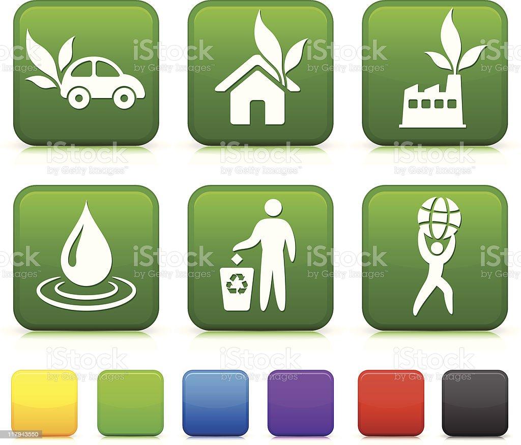 greener environment icons