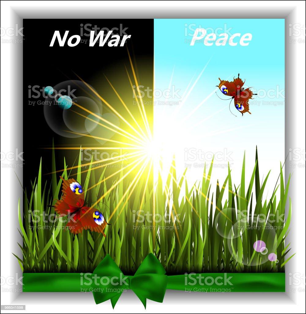 Greener grass with butterflies in the sunshine. No war.