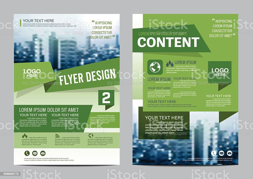 Greenery Brochure Layout flyer design template vector illustration vector art illustration