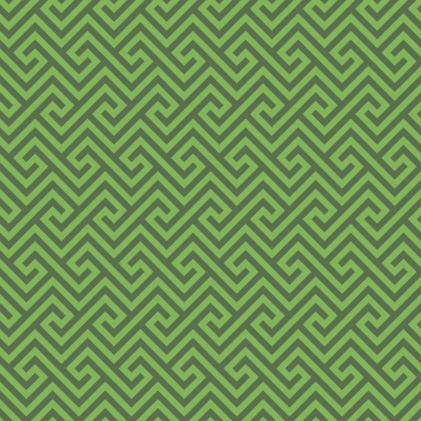 Greenery Classic meander seamless pattern. Classic meander seamless wallpaper pattern in greenery and kale colors. Greek key neutral tileable linear vector background. greco roman style stock illustrations