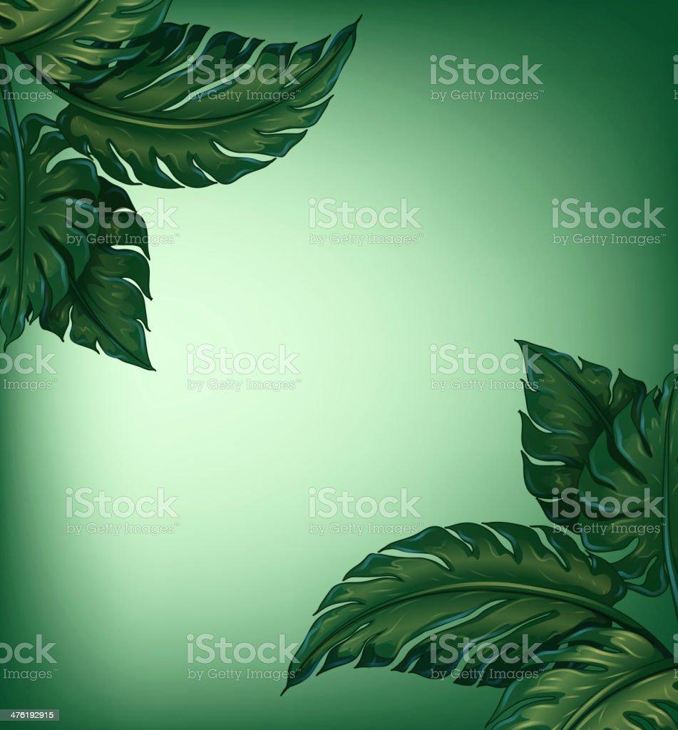 Greenery leaves royalty-free stock vector art