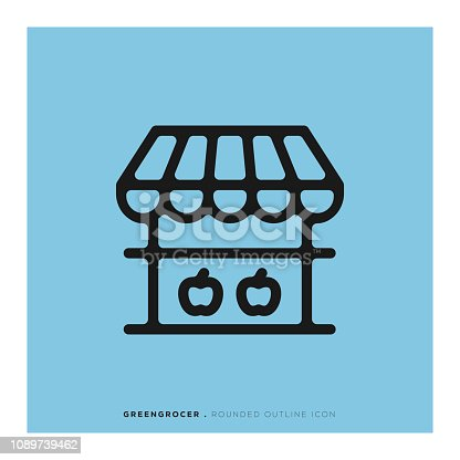Greengrocer Rounded Line Icon