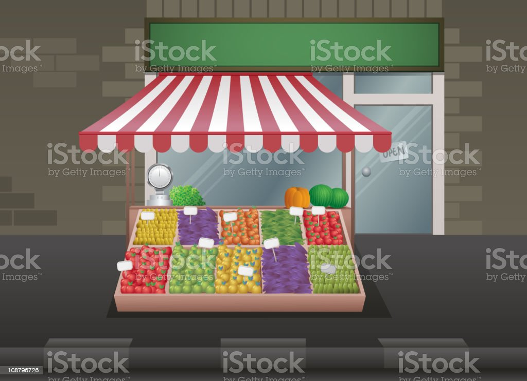 Greengrocer royalty-free stock vector art