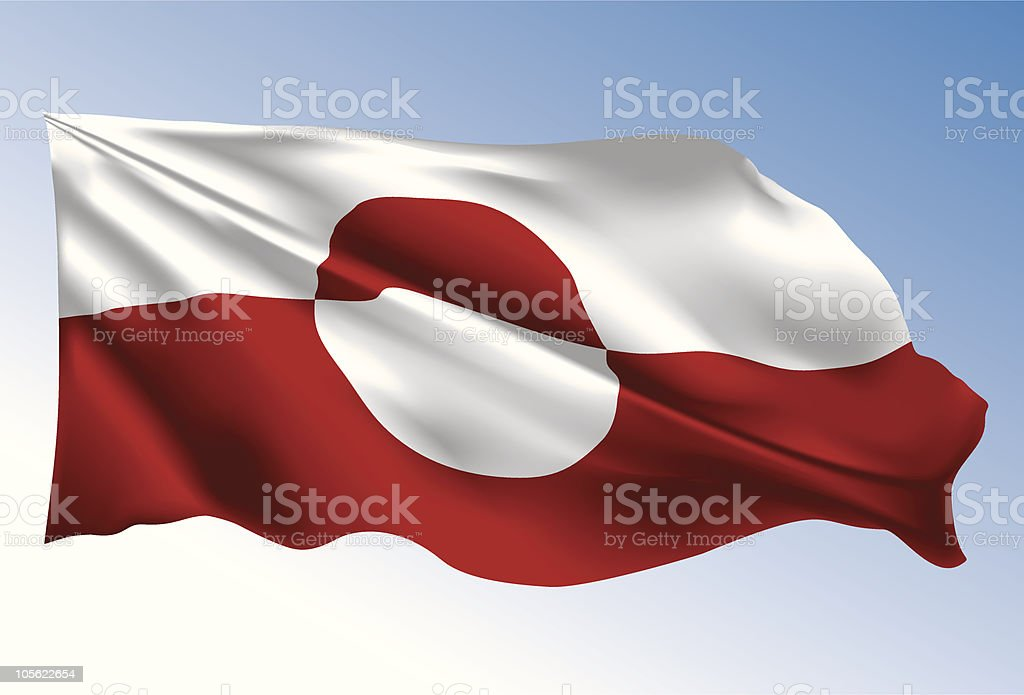 Greenland Flag royalty-free stock vector art