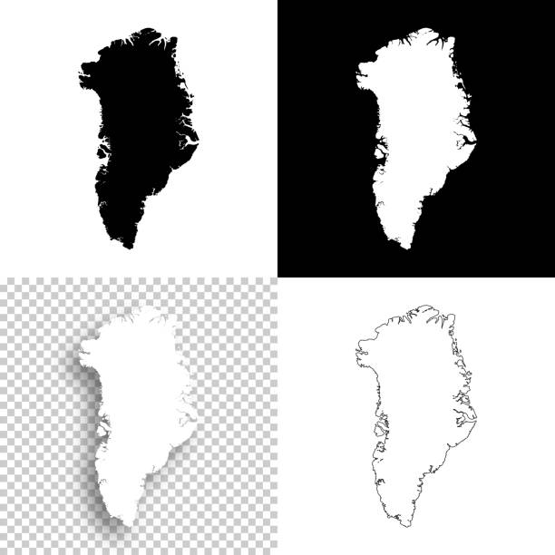Greenland maps for design - Blank, white and black backgrounds Map of Greenland for your own design. With space for your text and your background. Four maps included in the bundle: - One black map on a white background. - One blank map on a black background. - One white map with shadow on a blank background (for easy change background or texture). - One blank map with only a thin black outline (in a line art style). The layers are named to facilitate your customization. Vector Illustration (EPS10, well layered and grouped). Easy to edit, manipulate, resize or colorize. Please do not hesitate to contact me if you have any questions, or need to customise the illustration. http://www.istockphoto.com/portfolio/bgblue greenland stock illustrations