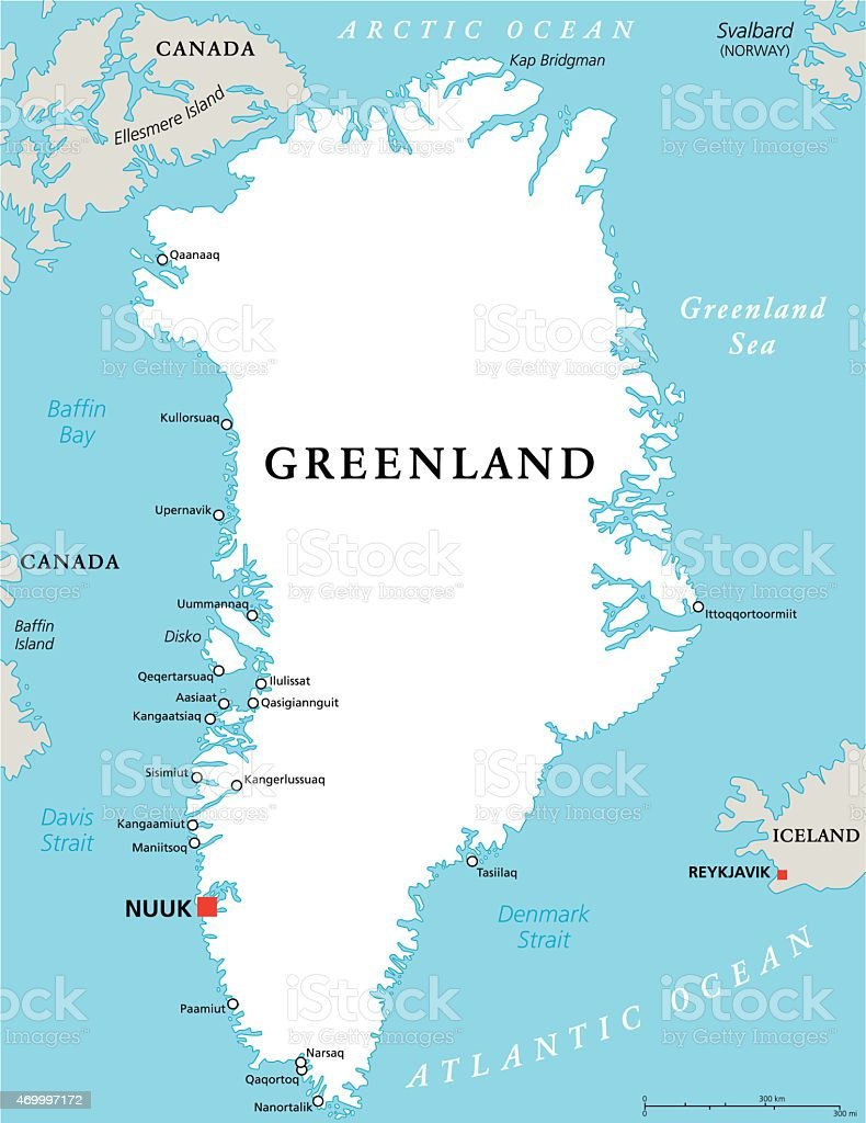 Greenland Political Map Stock Vector Art More Images of 2015