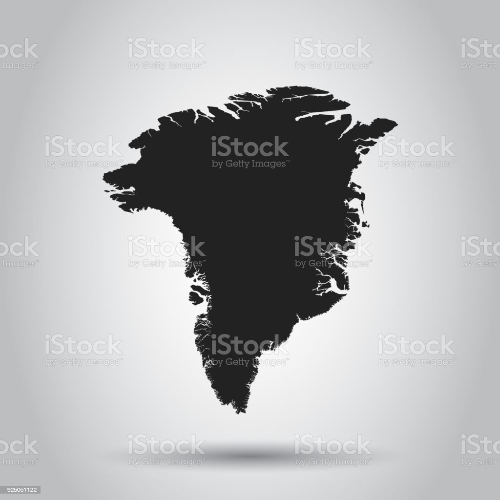 Greenland vector map black icon on white background stock vector art greenland vector map black icon on white background royalty free greenland vector map gumiabroncs Images