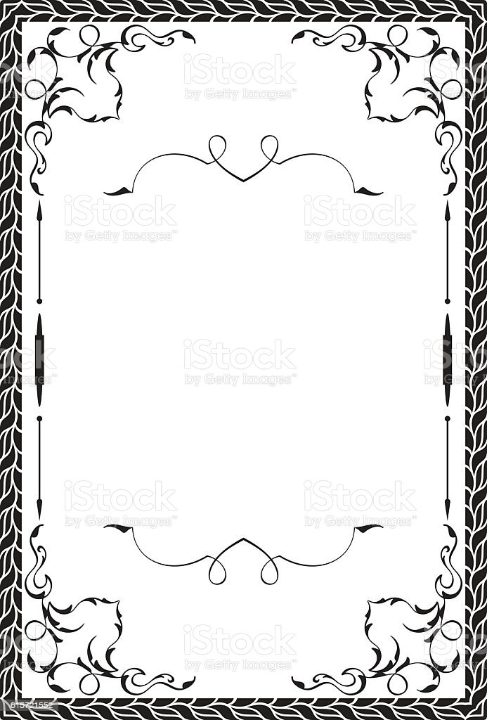 Greeting art page vector art illustration