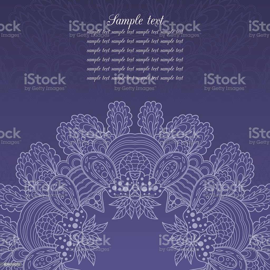 Greeting Blue Lace Card Stock Illustration Download Image Now Istock