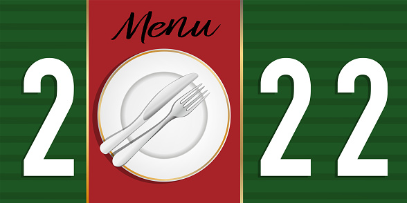 Greeting card 2022 on the theme of gastronomy and catering.
