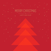 Greeting Card, Abstract, Christmas Tree,