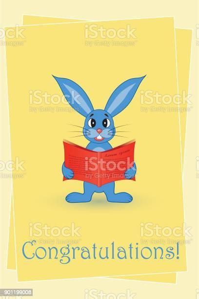 Greeting card blue rabbit with a red book vector id901199008?b=1&k=6&m=901199008&s=612x612&h=yflpq5fvqdkycecaegd7qjlyynx3bvyargwsh86ak94=