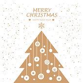 Greeting Card, Christmas Tree, Ornament,