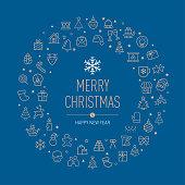 Greeting Card, Christmas Wreath, Element,