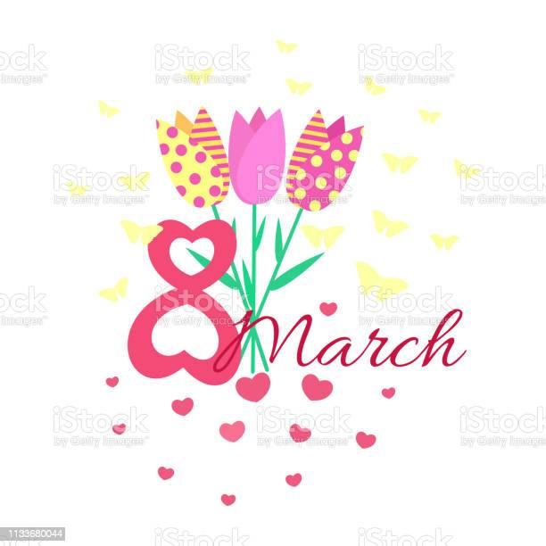 Greeting card dedicated to 8 march womens international day vector id1133680044?b=1&k=6&m=1133680044&s=612x612&h=4f6rvhaprk gy ixl3gtopdgxoor4dmodk7dc1o8ljy=