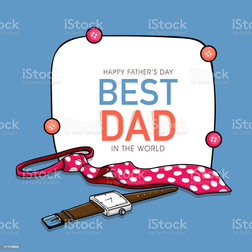 Greeting Card Design For Happy Fathers Day