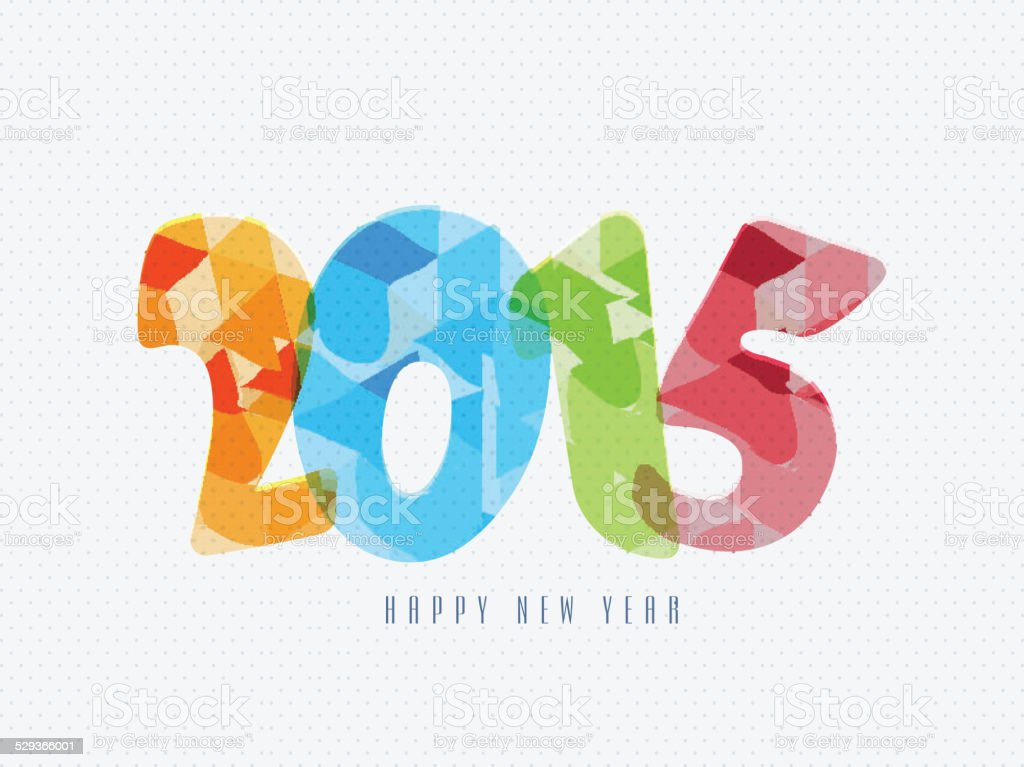Greeting Card Design For Happy New Year 2015 Celebration Stock