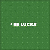 Green Happy St. Patrick's Day Card or Background Template Creative Design