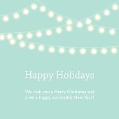 Greeting Card Design with Fairy Lights